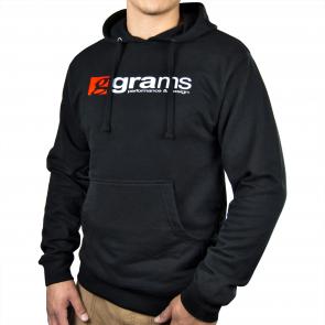 Grams Pullover Hooded Sweatshirt (Black, Large)