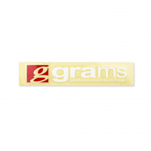 "Grams Logo Clear 8"" Decal"