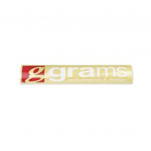 "Grams Logo Clear 18"" Decal"