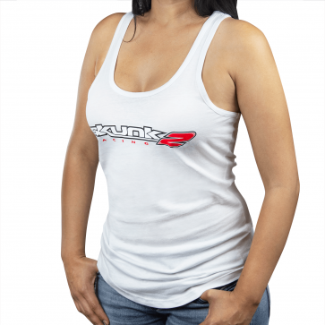Ladies Go Faster Tank Top Large - White