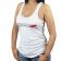 Ladies Go Faster Tank Top Small - White