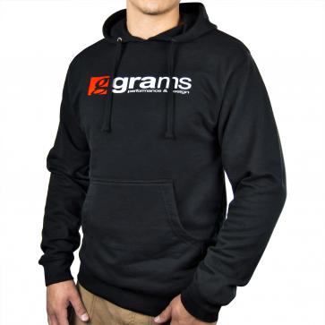 Grams Pullover Hooded Sweatshirt  (Black, X-Large)