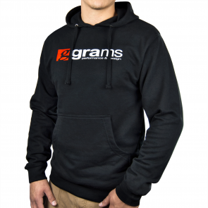 Grams Pullover Hooded Sweatshirt (Black, Large)