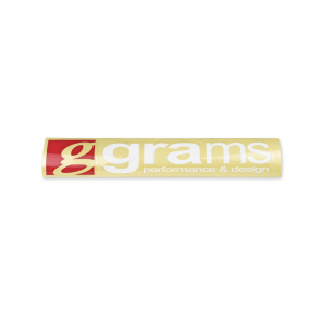 "Grams Logo Clear 18"" Decal"