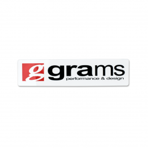"Grams Logo White 4"" Decal"