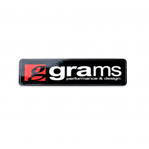 "Grams Logo Black 4"" Decal"