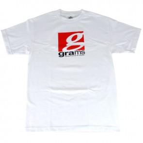 Grams Classic Logo T- Shirt ( White, Large )
