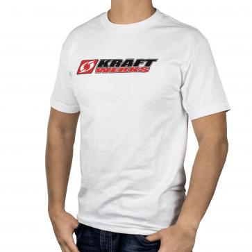 T-Shirt - Stacked Kraftwerks Logo - L White