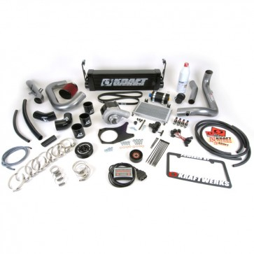 Kraftwerks 06-11 Civic R18 Supercharger System w/ Tuning (Hondata FlashPro) - Black Housing