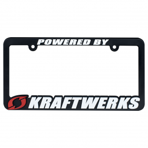 License Plate Frame - Powered by Kraftwerks