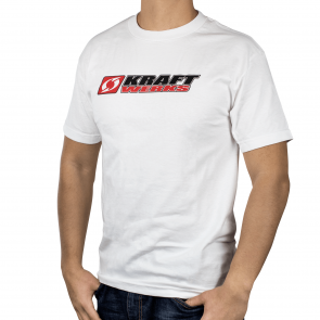 T-Shirt - Stacked Kraftwerks Logo - L White